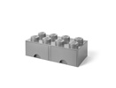 "40061740 Storage Brick Double Drawer ""Gray"""