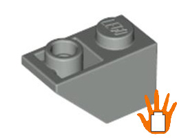 Покривна плочка 1X2 инверсна [366502] {2-ра ръка}<br><small>Roof Tile 1X2 Inv. [366502] {used}</small>