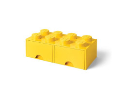 "40061732 Storage Brick Double Drawer ""Yellow"""