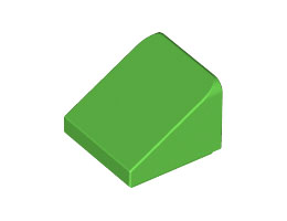 Покривна плочка 1X1x2/3 [4647546]<br><small>Roof Tile 1X1x2/3, Abs [4647546]</small>