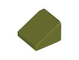 Покривна плочка 1X1x2/3, Abs [6002841]<br><small>Roof Tile 1X1x2/3, Abs [6002841]</small>