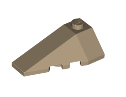 Лява покривна плочка 2X4 с ъгъл [6004711]<br><small>Left Roof Tile 2X4 W. Angle [6004711]</small>