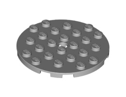 Кръгла плочка 6X6 с отвор за щракалка [6015349]<br><small>Plate 6X6 Round With Tube Snap [6015349]</small>