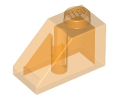 Покривна плочка 1X2/45° - прозрачна [6022650; 4579262; 4261934; 6219825]<br><small>Roof Tile 1X2/45° - Tr. [6022650; 4579262; 4261934; 6219825]</small>