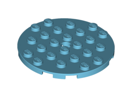Кръгла плочка 6X6 с отвор за щракалка [6029690]<br><small>Plate 6X6 Round With Tube Snap [6029690]</small>