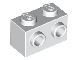 Тухличка 1X2 с 2 пъпки [6058177]<br><small>Brick 1X2 W. 2 Knobs [6058177]</small>