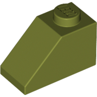 Покривна плочка 1X2/45°  [6064670]<br><small>Roof Tile 1X2/45° [6064670]</small>
