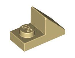 Покривна плочка 1X2 45° с плочка 1х1 [6069165; 4624988]<br><small>Roof Tile 1X2 45° W 1/3 Plate [6069165; 4624988]</small>