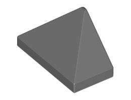 Крайна плочка ръб на покрив 1X2/45° [6076203]<br><small>End Ridged Tile 1X2/45° [6076203]</small>