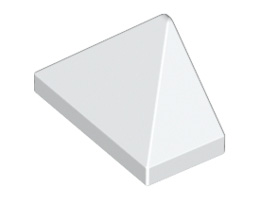 Крайна плочка ръб на покрив 1X2/45° [6097801]<br><small>End Ridged Tile 1X2/45° [6097801]</small>