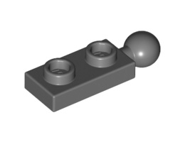 Плочка 1X2 с топче Ø5.9 [6123814]<br><small>Plate 1X2 W/5.9 Ball End [6123814]</small>