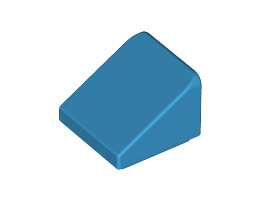 Покривна плочка 1X1X2/3, гладка [6133838]<br><small>ROOF TILE 1X1X2/3, ABS [6133838]</small>