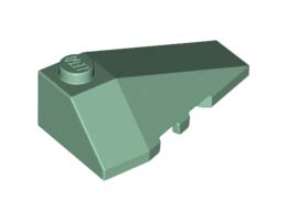 Дясна покривна плочка 2X4 с ъгъл [6187610]<br><small>Right Roof Tile 2X4 W/Angle [6187610]</small>