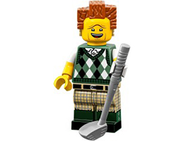 71023-12 LEGO MOVIE 2 SERIES - Gone Golfin' President Business