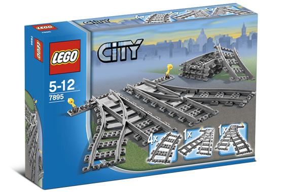 7895 ЛЕГО СИТИ - Стрелки<br><small> 7895 LEGO CITY - Switching Tracks</small>