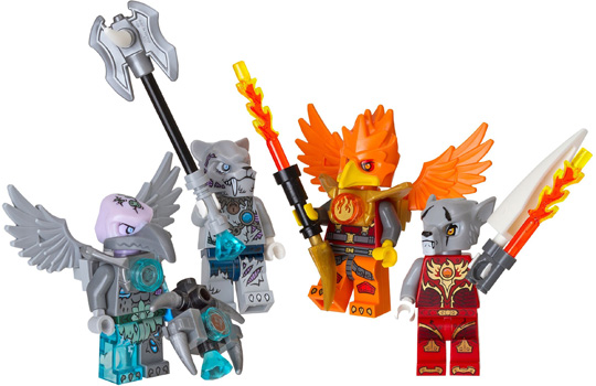 850913 Fire and Ice Minifigure Accessory Set
