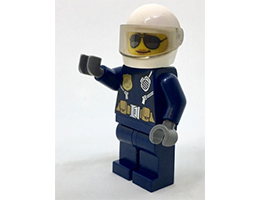 CTY739 Minifigure Police - City Helicopter Pilot Female