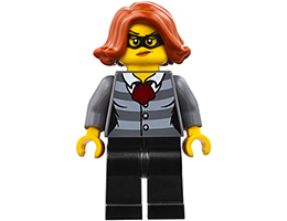 CTY753 Minifigure Police - City Bandit Female, Black Eye Mask