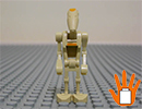 SW048 ЛЕГО Стар Уорс - Мини фигурка Боен дроид командир<br><small>SW048 LEGO Star Wars - Minifigure Battle Droid Commander</small>